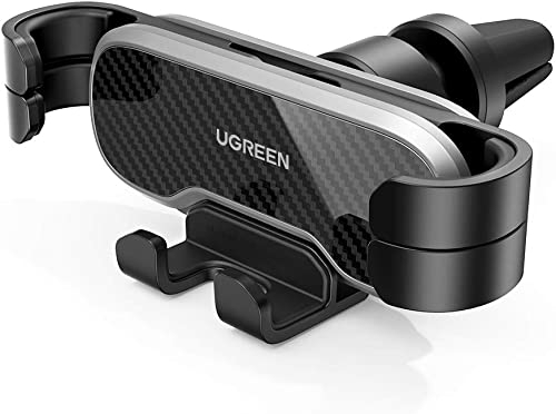 UGREEN Car Phone Holder Air Vent Mount Gravity Auto Clamp Retractable Cradle Clip Compatible for iPhone 12 Pro SE 11 Max XR XS 8 7 Samsung Galaxy Note20 Ultra S20 S10 A71 A70