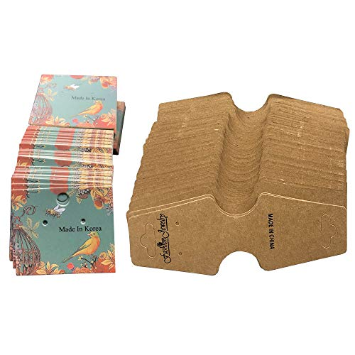 Schmuckkarte, 100 Stücke Ohrringkarte, 100 Halskette Display Karten, Kraftpapier Halskette Karte für Juweliergeschäft, Schmuckverpackung, Schmuckausstellung, Lagerung