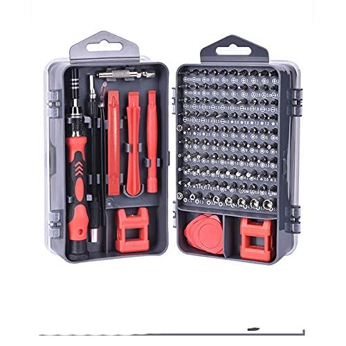 Juego de destornilladores 115 en 1, puntas de destornillador magnético, reparación de teléfono, kit de herramientas para PC, destornillador hexagonal, herramientas manuales, Polonia, 115Gray