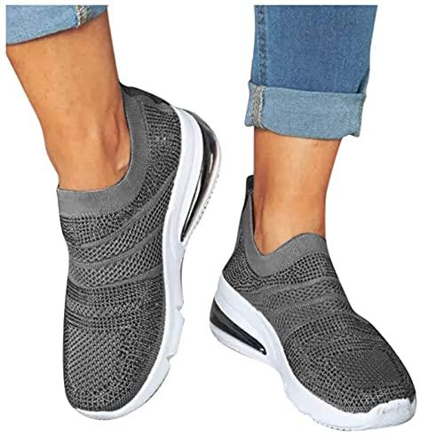 Zapatillas deportivas para mujer, de malla, transpirables, para el tiempo libre, para caminar, para interiores y exteriores, cómodas suelas deportivas