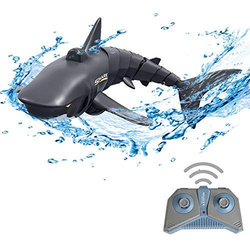 GoolRC Mini RC Tiburón Remote Control Juguete Nadar Juguete RC Submarino eléctrico...