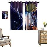 DRAGON VINES Cortinas perforadas para salón movimiento imagenes de naruto Boda Decoraciones Set de 2 paneles W55 x L72