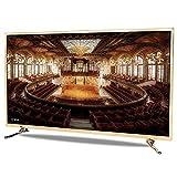 Smart TV LCD 32/42 pulgadas TV red WiFi TV LED 4K Full HD (HDR, tecnología Audio HiFi, Procesador Dual Core A53, tecnología Gran Angular 178 °, Habitación Salón Hotel Android (Golden)