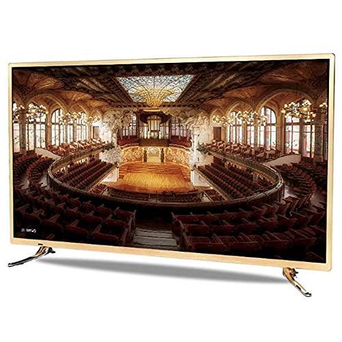 Smart TV 32/42-Zoll-LCD-Smart-TV, WiFi-Netzwerk-TV, 4K-Full-HD-LED-TV (HDR, HiFi-Audiotechnologie, A53-Dual-Core-Prozessor, 178 ° Weitwinkel-Technologie, Schlafzimmer-Wohnzimmer-Hotel Android Golde