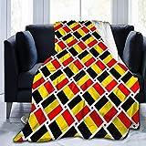 huatongxin Couch Wrap,Shaggy Manta Throw,Microfleece Manta,Throw Mantas,Flag of Belgium Men & Women Flannel Manta For Sofa Bed Home Office,All Seasons L
