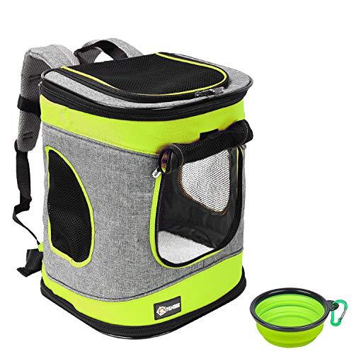 Pawsse Dog Backpack Pet Carrier Rucksack für Katzen und Hunde bis 15 Pfund Outdoor Travel Carrier für Haustiere Wandern, Walken, Radfahren & Outdoor 16