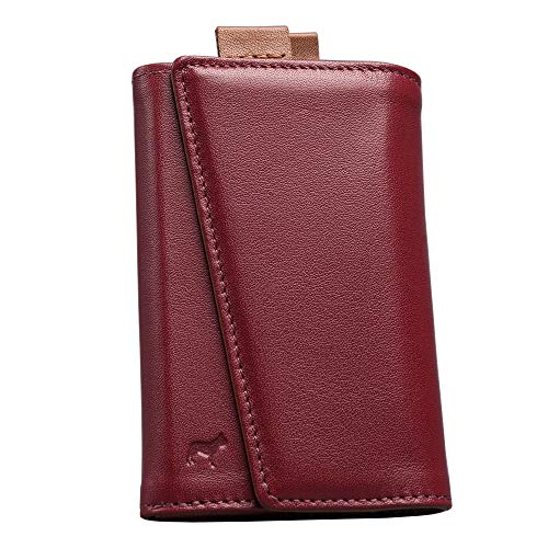 The Frenchie Co. Speed Wallet | Burgandy Tan | The Original Speed Wallet for Men with RFID Blocking and Super Fast Card Access | Italian Leather Ultra Slim