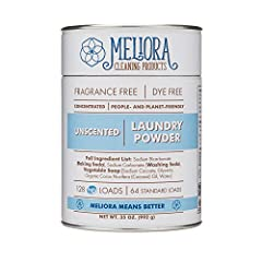 CONCENTRATED: All it takes is 1/2 tablespoon per high efficiency (HE) load - or 1 tablespoon per standard load - of laundry. This compact cardboard and steel canister of Laundry Powder replaces that unsightly plastic jug - and looks great, too! PEOPL...
