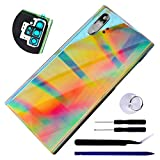 Bestdealing Galaxy Note 10 Plus Back Glass Replacement Door Panel Cover for Samsung Galaxy Note10+ 5G 6.8' N976U SM-N975F N975U Back Cover Housing with Tape Repair Part (Not for Note10) (Aura Glow)