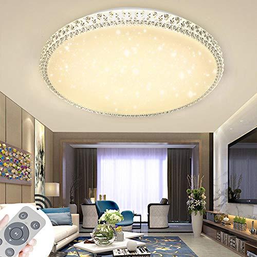 48W Dimmbare LED-Deckenlampe mit Fernbedienung Starlight Effekt für Wohnzimmer Schlafzimmer Flur Balkonmit Fernbedienung [Energieklasse A+]