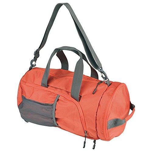 Schwarzwolf outdoor Brenta Sac de Sport Pliable 28 l Sac de Voyage Sac à bandoulière Sac à Dos Pliable Orange