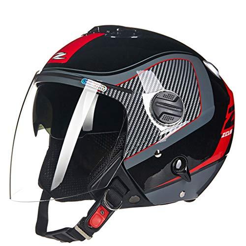 Casque moto moto double lentille fashion casque de moto (Couleur : B-Xxxl(63-64cm))