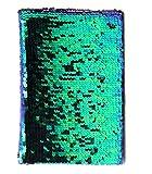 Bada Bing Notizbuch Pailletten DIN A 5 Tagebuch Pfau Blau Grün Schimmer Glitter Buch Mit Wendepailletten Rezeptbuch Zum Reinschreiben Geschenk 07
