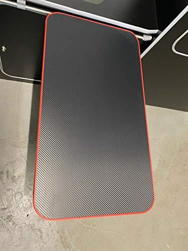 Lusso Folding Table Slider Kit Kitchen Furniture Compatible To Fit Caravan Camper Van Motorhome VW T4, T5,T6, Vivaro, Trafic, Vito | Carbon/Red