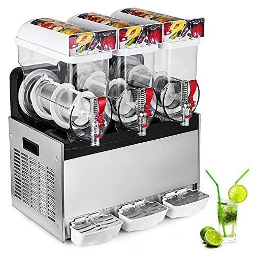 JFF 15L×3 Commercial Double Tank Slush Frozen Drink Machine Slush Slushy Maker,3 Tank Slush Slushy Making Machine Smoothie Maker