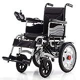 YXB Electric Wheelchair, Electric Folding Wheelchair Intelligent Powerchair Super Endurance Safer Elderly Wheelchair