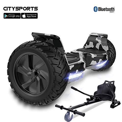 Medium Negro Unisex /Fundas para 6,5/Pulgadas Smart Self Balancing Electric Skateboards Hemore Roller Hover Tarjeta Silicona/