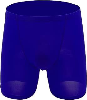 Men Summer Boxer Briefs Cotton Underwear Soft Cotton Open Fly Underwear