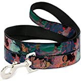 Buckle-Down Dog Leash Pocahontas John Smith Scenes 4 Feet Long 1.0 Inch Wide, Multi Color (DL-WDY069)