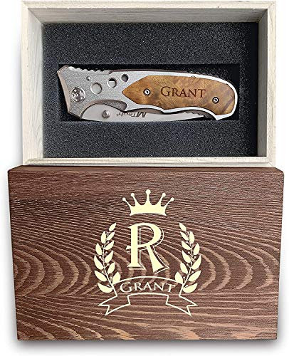 Personalized Knife With Engraved Box, Best Personalization Gift For Men, Drop Point Blade Knife For Groomsmen, Engraved Pocket Knife, Sharp Stainless Steel Custom Knife