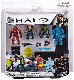 Mega Bloks, Halo, Spartan IV Battle Pack (UNSC Spartan Scout, Covenant Storm Jackal, Covenant Imperial Grunt, and UNSC Camo Recruit) (97208)