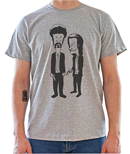 DreamGirl Beavis And Butthead Pulp Fiction Characters Funny Graphic Mens T-Shirt X-Large