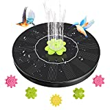 AsFrost Solar Bird Bath Fountains, Upgraded 1.4W Solar Powered Water Fountain Pump, Floating Solar Bird Feeder Fountain, Small Solar Waterfall Pump with 5 Nozzles for Fish Pond, Pool, Outdoor Garden