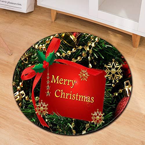 Alfombra Gruesa Antideslizante, Alfombra Redonda para El Hogar De Navidad, Silla para Computadora, Cojín De Oficina, Material De Poliéster, Lavable