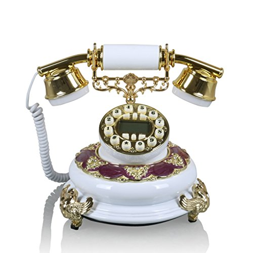 Teléfonos VOIP La Nueva línea terrestre Europea de telefonía Fija teléfonos Antiguos de época Retro casa de Forma Creativa Teléfono Retro