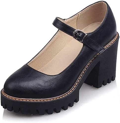 AN Damen Penny Loafer Fischer Closed-Toe DGU01125 Blockabsatz Pumps