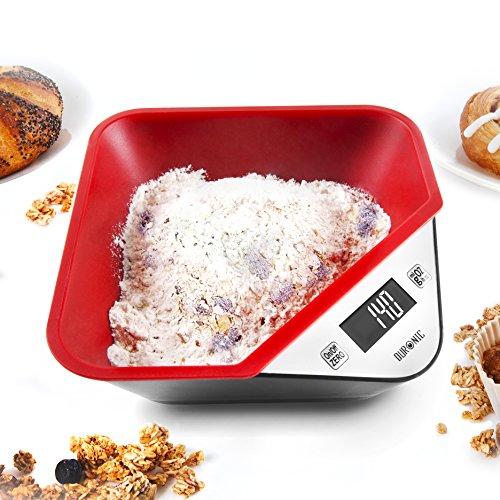 Duronic KS100/BK - bilancia da cucina digitale con vassoio 5KG