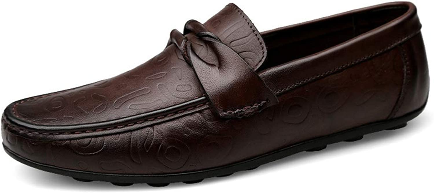 Men's Leather shoes, Comfort Loafers Leather Spring Summer   Fall Comfort Loafers & Slip-Ons Walking shoes Black Brown YAN (color   Brown, Size   44)