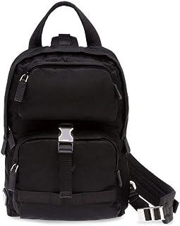 Prada Luxury Fashion 2VZ013973F0002 - Mochila para hombre, color negro
