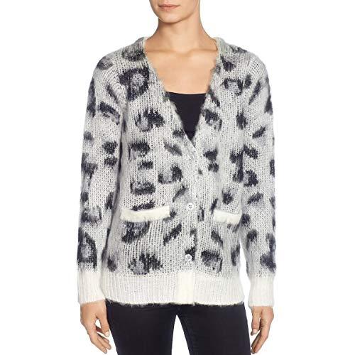 CATHERINE CATHERINE MALANDRINO Women's Russe Sweater, Blk/Gry/Wht, XL Extra Large