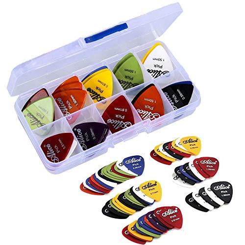 clasificación y comparación Guitar Medic Gsyamh Púas de guitarra eléctrica acústica mixtas finas, ligeras y suaves … para casa
