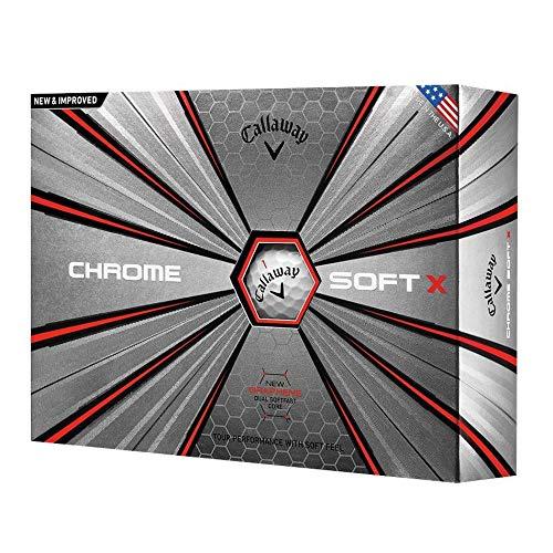 Callaway Chrome doux X Balles de golf, une Douzaine (2018Version), mixte, Chrome Soft X, blanc