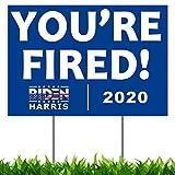 AMAZINGSTICKERS Biden Yard Sign, Biden Harris 2020, Anti Trump Yard Signs 2020 Double Sided Print Waterproof, Joe Biden Yard Sign with 17' Heavy Duty Metal H-Frames 12'x18'