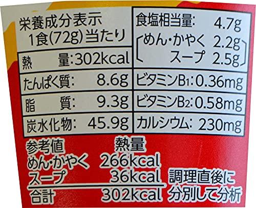 サッポロ一番カップスター醤油72g×12個