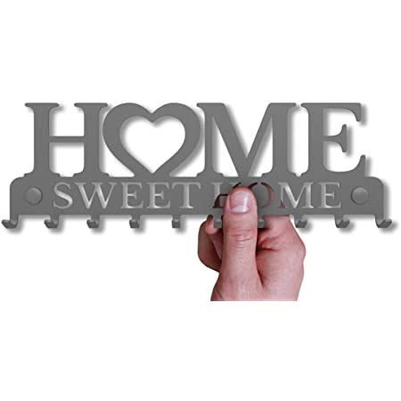 Rustikaler Schl/üssel-Board Hakenleiste Schl/üsselleiste Vintage Decor Haus-t/ür K/üche Fahrzeug-schl/üssel Aufh/änger 7-Haken M-KeyCases Schl/üsselbrett Home Sweet Home Wand-Organizer