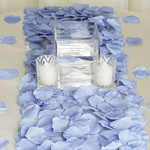 BalsaCircle 2000 Periwinkle Silk Artificial Rose Petals Wedding Ceremony Flower Scatter Tables Decorations Bulk Supplies Wholesale