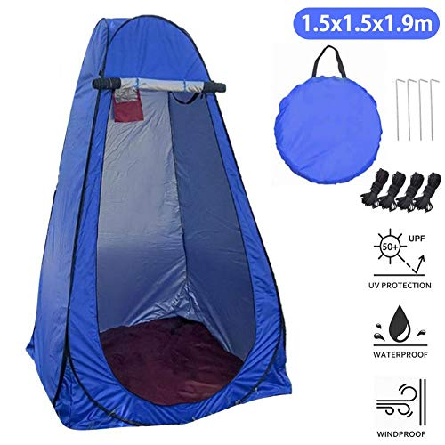 Pop Up Shower Tent, Instant Portable Privacy Tent, Camp Toilet, Foldable Rain Shelter Sun Shelter For Camping & Beach – Lightweight & Sturdy, Easy Set Up - With Carry Bag