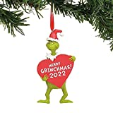 YIJBAO Grinch decoraciones de Navidad – Grinch con árbol o adornos de 2022 – Decoración Grinch para colgantes de Navidad, decoraciones colgantes y espirales (Grinch con 2022)
