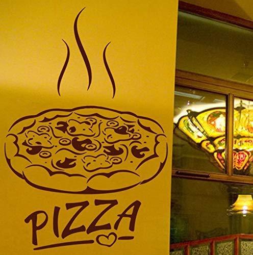 Pizza Decal Ristorante Adesivo Poster Vinile Adesivo Decorazione Murale Pizza Sticker 40X60Cm