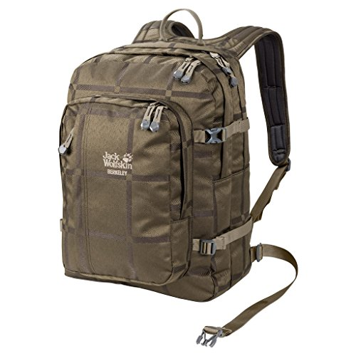 Jack Wolfskin Berkeley Y.D. Bookpack Daypack Rucksack, Pinewood Big Check, 48x38x5 cm