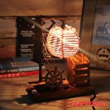 SET Lámpara de Mesa-La Cabeza de Las lámparas de Escritorio de Madera Creativa Dormitorio Sala de Estar Caliente lámpara de Ahorro de energía romántica Personalidad cálida luz de la Noche Retro