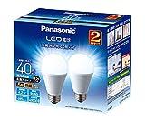 パナソニック LED電球 口金直径26mm 電球40W形相当 昼光色相当(4.2W) 一般電球・広配光タイプ 2個入り 密閉形器具対応 LDA4DGEW2T