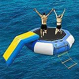 FHW Wasser Aufblasbare Trampolin Springende Schwimmende Sprungplattform Wasser Springende Bett...