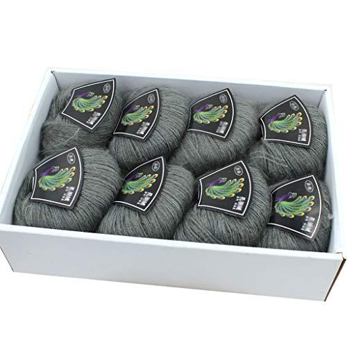 Wollen garen, acryl garen breien wol set hand breien garen kleurrijk zacht katoen garen 8x50g/rook grijze kleur