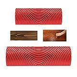 lonhchi 2 pz strumento venatura del legno,rullo per pittura rosso pennelli da pittura crea effetto strumento di pittura muro pittura decorazione strumento