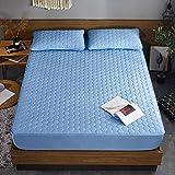 XGguo Protector de colchón - Protector de colchón antialérgico Sábana de una Sola Pieza Transpirable Engrosada a Prueba de Polvo-Cubo de Agua Blue_135cmx200cm